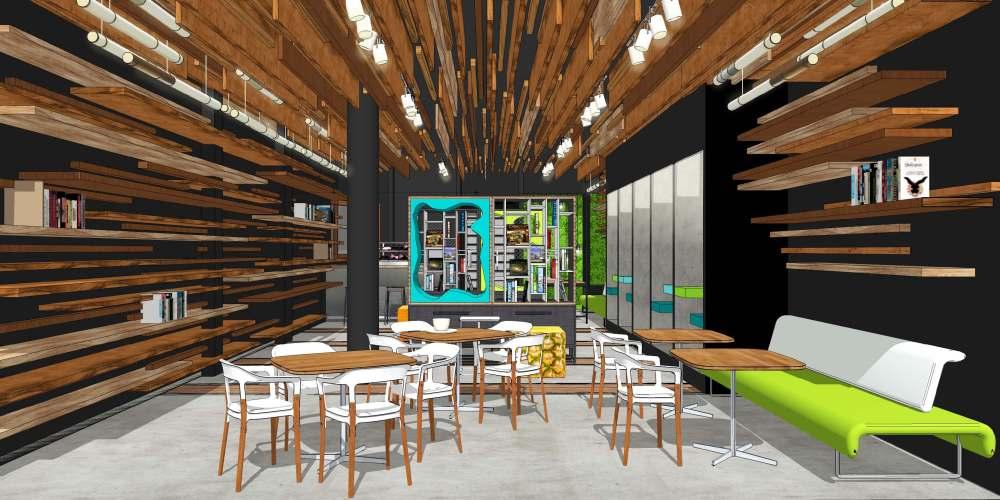 Anteproyecto para librer a cafeter a en madrid por for Cursos interiorismo madrid